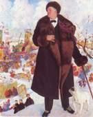 "Портрет Б.М. Кустодива ""Ф. И. Шаляпин. 1921 г."""