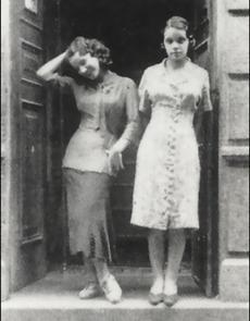 Carmen Miranda и сестра Aurora в 1925