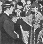 Бракосочетание Э. Пиаф и Тео Сарапо. 9.10.1962 г.