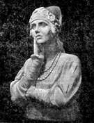 Скульптурный портрет работы С.Т. Коненкова. Н.В. Плевицкая