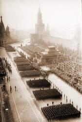 Общий вид Красной площади во время прохождения войск в день Парада Победы