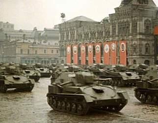 На Красной площади тяжелые танки