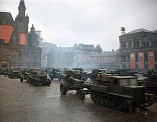 На Параде Победы 24 июня 1945 года. Артилерия
